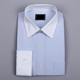 商务男士蓝色防静电衬衫j加工
